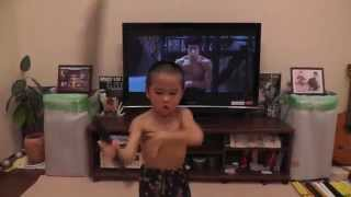 Ryusei(5year-old)acting Nunchaku scene From Enter The Dragon