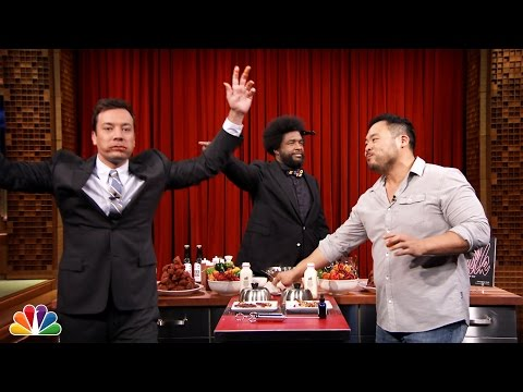 Hot Wing Eating Contest with David Chang