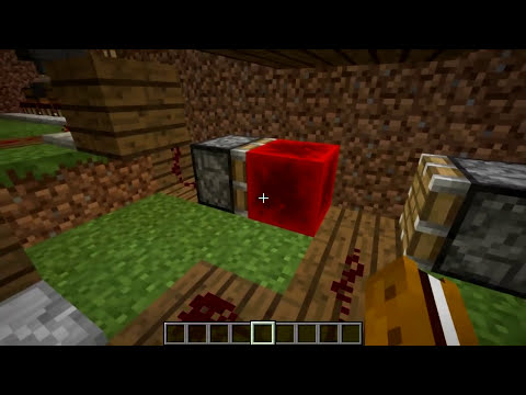 Minecraft Tutorial - Automatic Wheat Farm - Automatic Replanting!(Minecraft 1.8+)