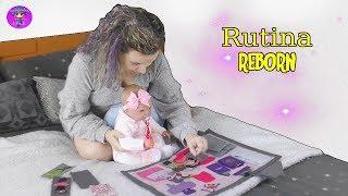 Rutina de una MAMA REBORN - JJ y la bebe reborn Sofía RUTINA de mañana