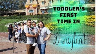 Toddler's First time in Disneyland  First day in Disneyland  Pixar Parade