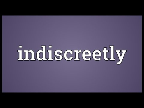 Header of indiscreetly