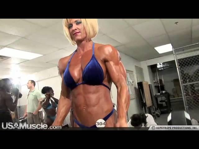 2010 NPC Nationals Women's Bodybuilding Pump Room Part 2