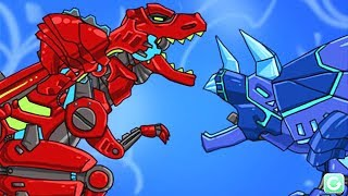 Dino Robot Corps: ALL ANIMATIONS | Eftsei Gaming