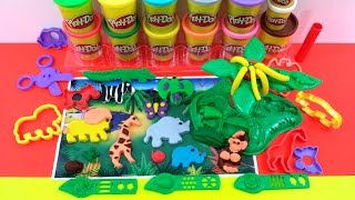 Play Doh Safari Playset Jungle Pets Animal Playdough Toys