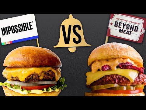 MEAT EATERS TASTE TEST! Beyond Burger vs Impossible Burger