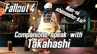 Fallout 4 - Companions speak with Takahashi, the noodle-serving Protectron