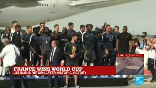 World Cup 2018: French football team arrives in Paris