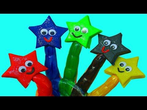 Пластилин Плей до Развивающее видео Детям Учим цвета Пальчиковые краски Поем песню Семья пальчиков