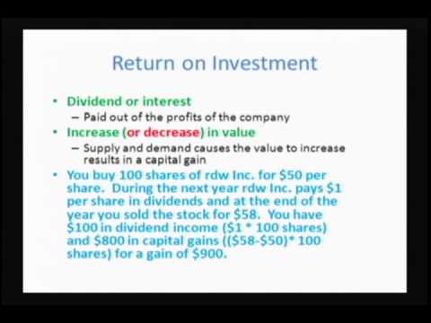 Personal Finance: Class 5 - Investing