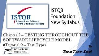 ISTQB Foundation Level 2018 | 2.3 Test Types