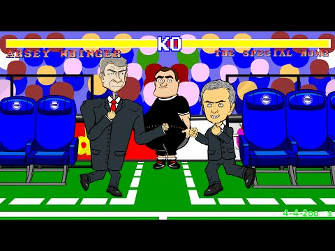 ❗️Wenger vs Mourinho FIGHT/PUSH/SHOVE❗️(Chelsea vs Arsenal 2-0 Highlights/Goals/2014) Cartoon Parody