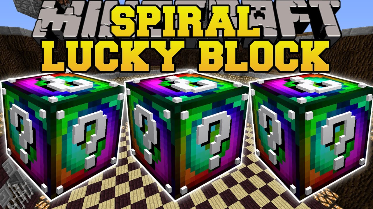 Minecraft SPIRAL LUCKY BLOCK MOD BLOCKS OF MADNESS INSANITY - Spielaffe minecraft