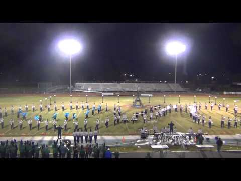 Northshore Marching Band performs at Slidell High School 11-8-13 Show