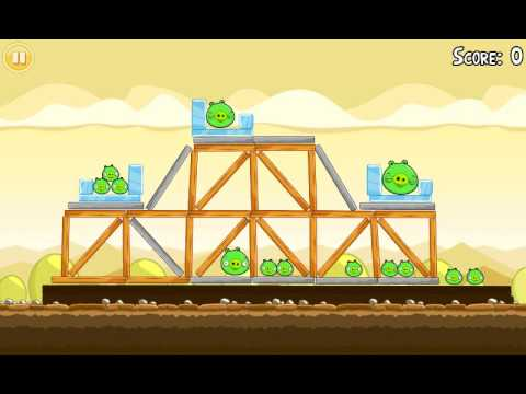Official Angry Birds walkthrough for theme 5 levels 16-21