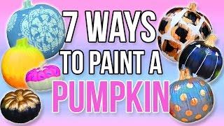 7 WAYS TO PAINT A PUMPKIN