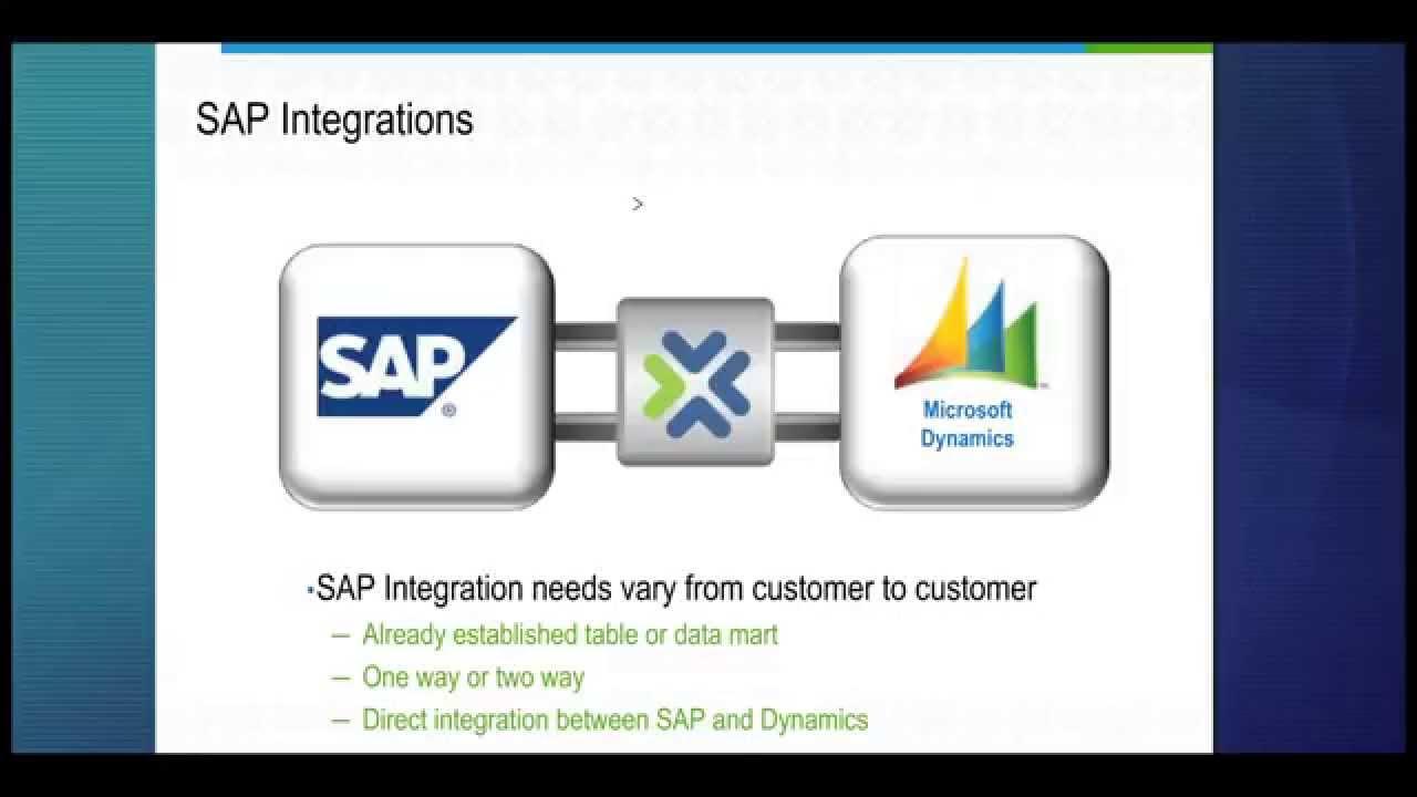 Microsoft Dynamics Crm Amp Sap Integration West