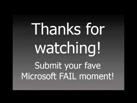 Top 5 MICROSOFT FAIL MOMENTS