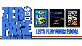 ZeroPage Homebrew 20180413 Livestream (Atari 2600: Pac-Man 4K, DK VCS, Oystron)