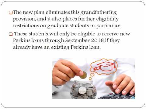 Education loans : Explore What Perkins Loan Program Extension Means for Students
