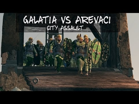 Total War Rome 2 Online Battle 53 Galatia vs Arevaci City Assault