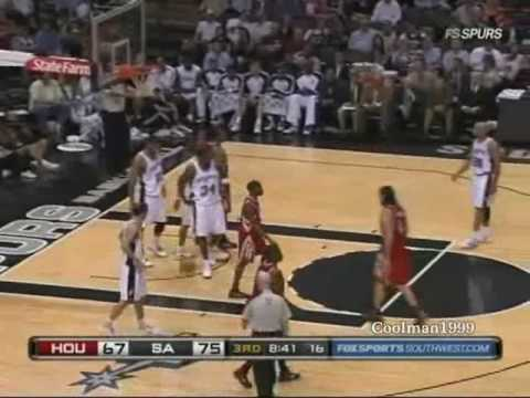 San Antonio Spurs George Hill career high vs. Houston Rockets 3/31/2010 Video