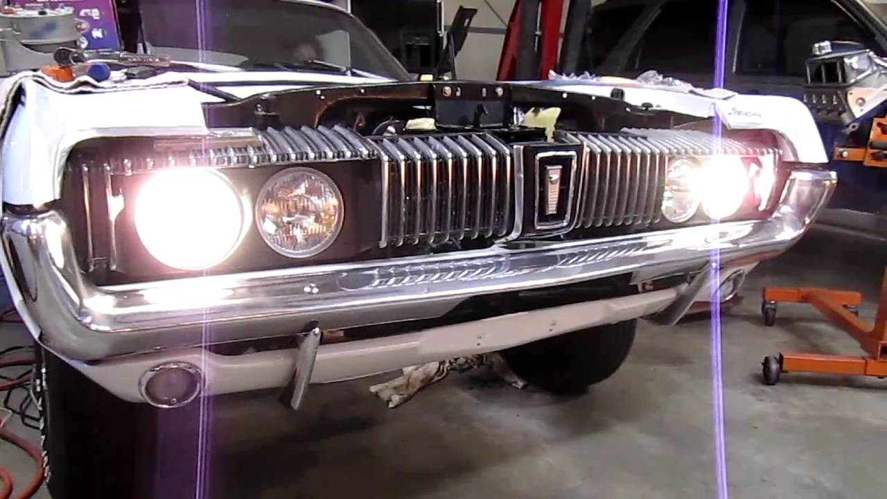 67 Cougar Headlight Upgrade Youtube