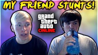 GTA 5 - MY FRIEND TRIES TO HIT A STUNT! ft. ThornZGaming