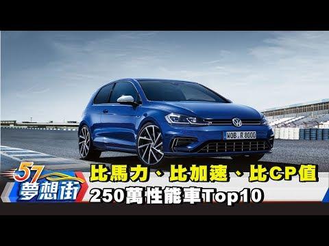 台灣-夢想街57號-20180420 比馬力、比加速、比CP值 250萬性能車Top10