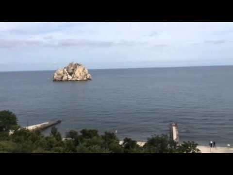Crimea.Gurzuf.Артековский гостевой пляж.4 июня 2014