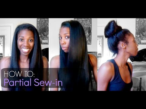 How To   Partial Sew-in - Outre Velvet Brazilian Remi Yaki