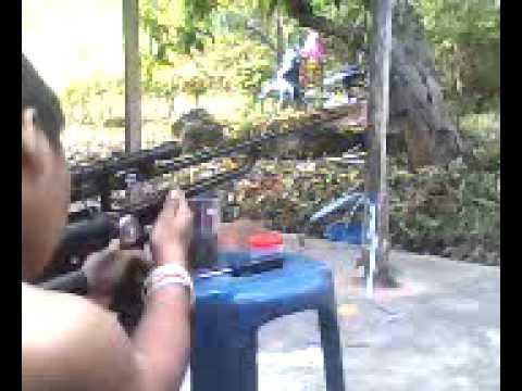 ปืนลมไทยประดิษฐ์  เเบบไม่มีสูบ  1