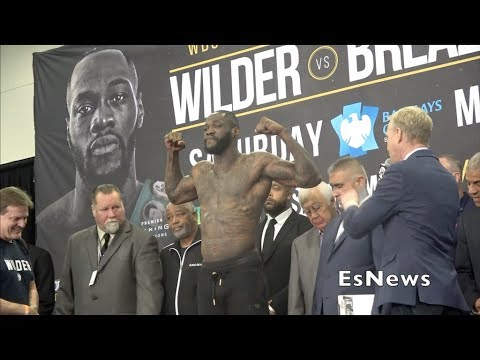Deontay Wilder Weighs In 223 Ready For Breazeale EsNews Boxing