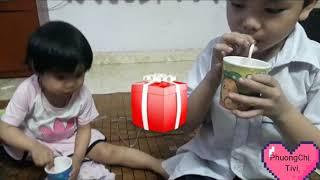 Bé yêu thi uống sữa kun ngon tuyệt vời ♡ Phuong Chi Tivi