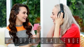 THE WHISPER CHALLENGE // Rosanna Pansino & Madilyn Bailey
