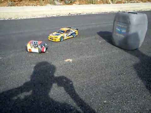 RC Drift practice with Yokomo Drift Package Greece Nissan Skyline Bee R-324