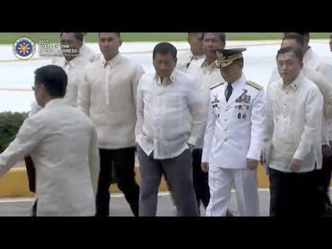 Duterte arrives at Batasan for second Sona