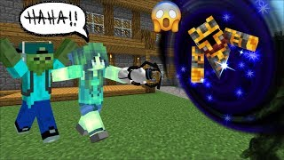 MC NAVEED FALLS INSIDE A PORTAL IN TO THE FUTURE! BABY ZOMBIE INSIDE AN APOCALYPSE! Minecraft Mods