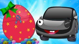 Baby Cars Stolen Christmas Surprise Egg Rescued by Bob the Police Car | kids Song