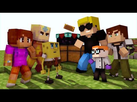 Minecraft:cartoon Network Vs Nickelodeon - Batalhas Skywars video