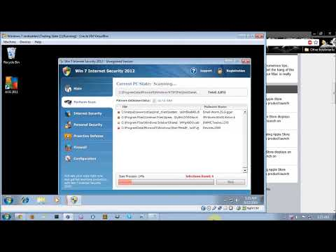 AVG Anti-Virus Free Edition 2011 Anti-Malware Test Part 1