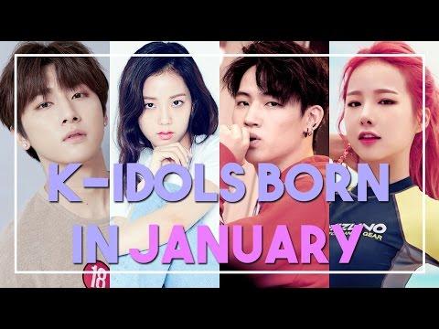 K-IDOLS BORN IN JANUARY