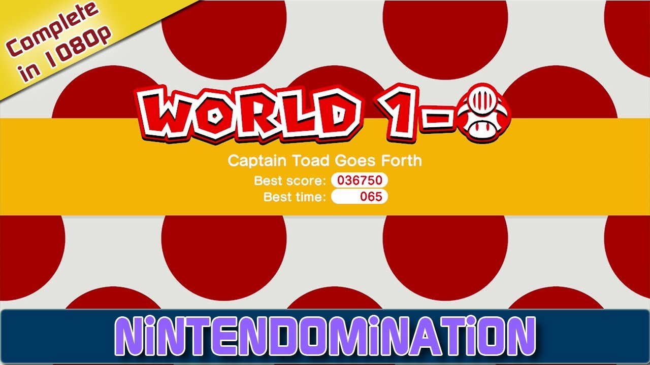 Super Mario 3D World Complete World 1 TOAD 3D YouTube