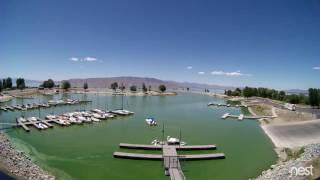 Time-lapse video of algae growth in Utah Lake