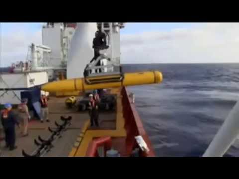 Underwater Drone Search for Missing Plane on Ocean Floor