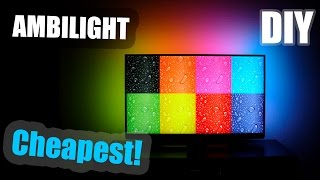 DIY | Cheapest AMBILIGHT for 47' TV [$20 only!]