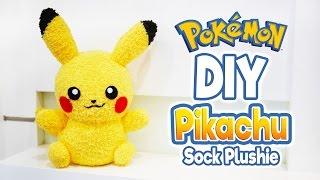 DIY Pikachu Sock Plushie with Free Pattern! Cute Pokemon Tutorial