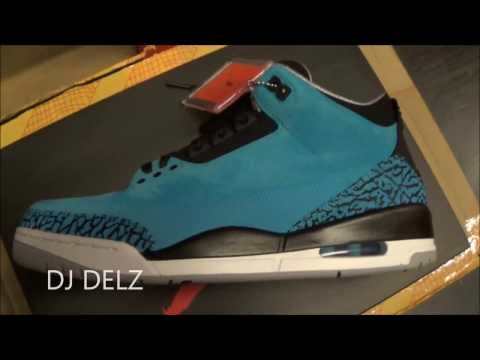 2014 Air Jordan Powder Blue 3 III Retro Sneaker Review With @DjDelz Dj Delz
