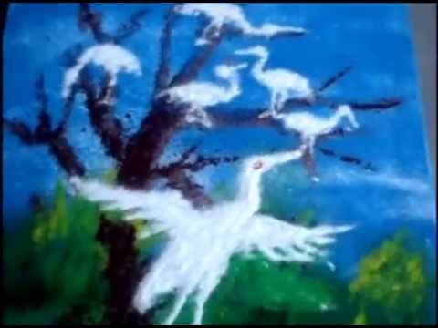 Bird Scenery Drawing How to Draw 3d Rangoli Designs