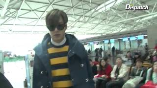 [2015-03-10] Lee Minho at ICN Airport Heading to Paris